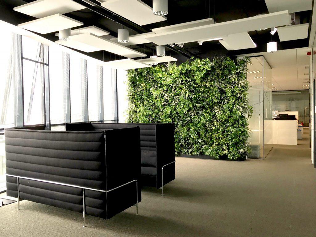 A nice nextgen living walls by flower company nextgen - How to make a living wall ...